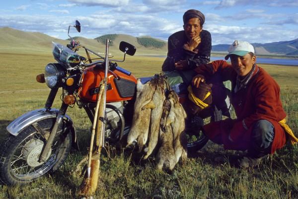Motards Mongoles chasseurs de marmotte