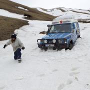 Isbamobile dans la neige
