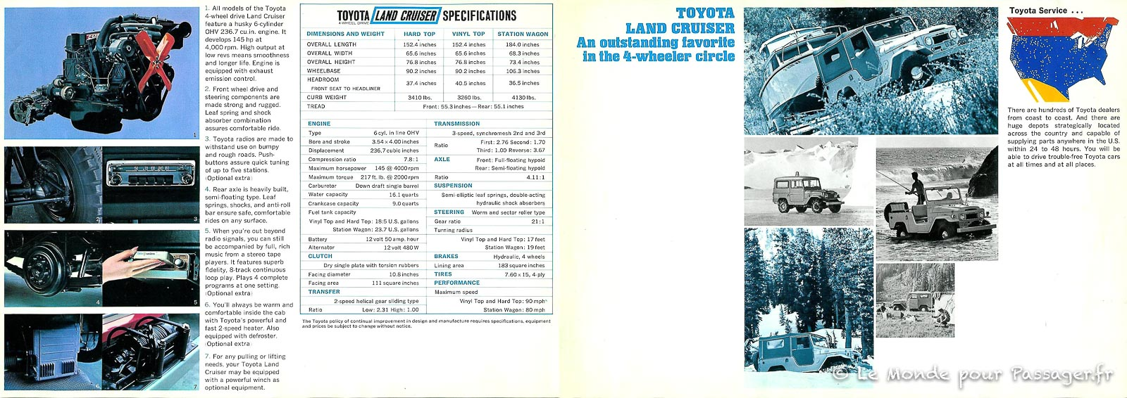 FJ55-les pubs et brochures d'époque - Le Monde pour Passager